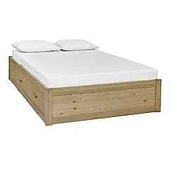 Debenhams - Oak 'Turin' bed frame with 4 drawers