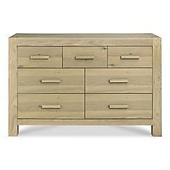 Debenhams - Oak 'Turin' 7 drawer chest