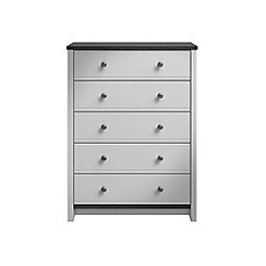 Consort Furniture - Grey 'Ruffel' 5 drawer chest