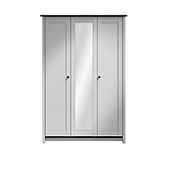 Consort Furniture - Grey 'Ruffel' triple wardrobe