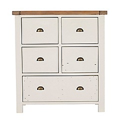 Debenhams - Two-tone 'Toscana' 5 drawer chest