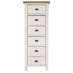 Debenhams - Two-tone 'Toscana' 6 drawer tallboy chest