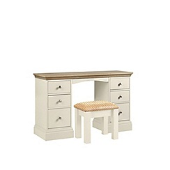 Debenhams - Oak and cream 'Oxford' dressing table with stool