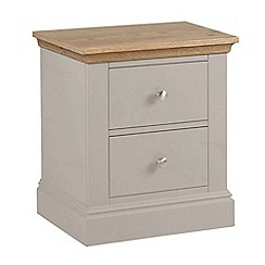 Debenhams - Oak and taupe 'Oxford' bedside cabinet with 2 drawers