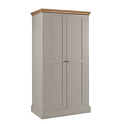 Debenhams - Oak and taupe 'Oxford' double wardrobe