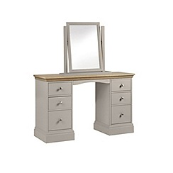 Debenhams - Oak and taupe 'Oxford' dressing table with mirror