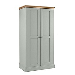 Debenhams - Oak and pale blue 'Oxford' double wardrobe