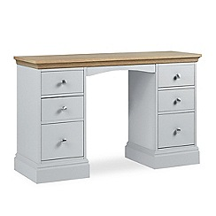 Debenhams - Oak and pale blue 'Oxford' dressing table