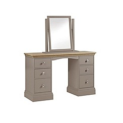 Debenhams - Oak and dark grey 'Oxford' dressing table with mirror