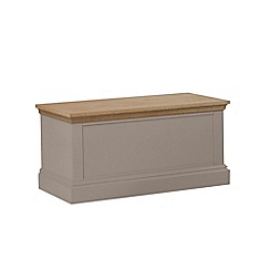 Debenhams - Oak and dark grey 'Oxford' storage chest