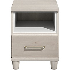 Debenhams - Elm effect 'Hazel'  bedside cabinet with drawer and light