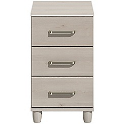 Debenhams - Elm effect 'Hazel'  bedside cabinet with 3 drawers