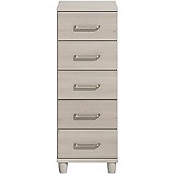 Debenhams - Elm effect 'Hazel'  narrow 5 drawer chest