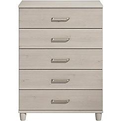 Debenhams - Elm effect 'Hazel' 5 drawer chest