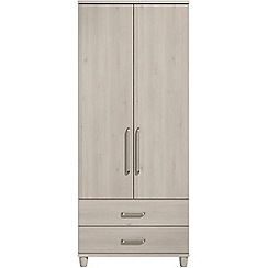 Debenhams - Elm effect 'Hazel' double wardrobe with drawers