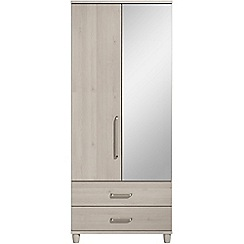 Debenhams - Elm effect 'Hazel' double wardrobe with drawers and mirror
