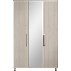 Debenhams - Elm effect 'Hazel' triple wardrobe with mirror