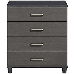 Debenhams - Black grain effect 'Hazel'  4 drawer chest