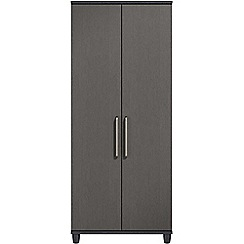 Debenhams - Black grain effect 'Hazel' double wardrobe