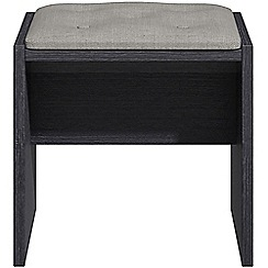 Debenhams - Black grain effect 'Hazel' stool