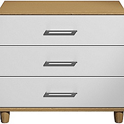 Debenhams - White gloss 'Hazel'  3 drawer chest