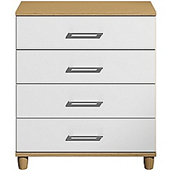 Debenhams - White gloss 'Hazel'  4 drawer chest