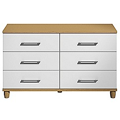 Debenhams - White gloss 'Hazel' 6 drawer chest