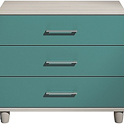 Debenhams - Turquoise gloss 'Hazel' 3 drawer chest