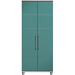 Debenhams - Turquoise gloss 'Hazel' double wardrobe