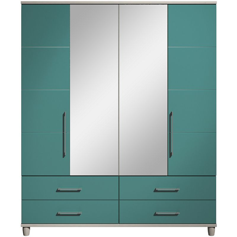 Debenhams Turquoise Gloss hazel 4 Door Wardrobe With