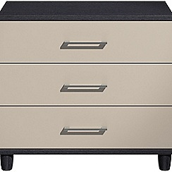 Debenhams - Grey gloss 'Hazel' 3 drawer chest