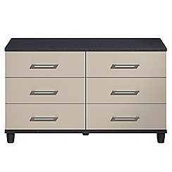 Debenhams - Grey gloss 'Hazel' 6 drawer chest