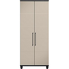 Debenhams - Grey gloss 'Hazel' double wardrobe