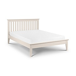 Debenhams - Ivory 'Sallerno' bed frame with 'Premier' mattress