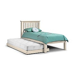 Debenhams - Soft white 'Barcelona' single bed frame with guest bed and 'Premier' mattresses