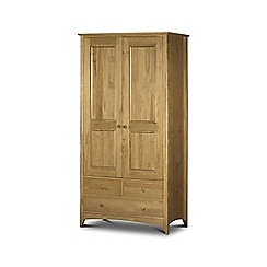 Debenhams - Pine 'Barcelona' double wardrobe with drawers
