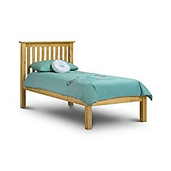 Debenhams - Pine 'Barcelona' single bed frame with 'Deluxe' mattress
