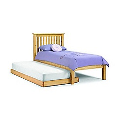 Debenhams - Pine 'Barcelona' single bed frame with guest bed and 'Platinum' mattress