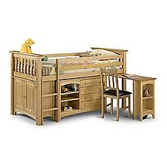 Debenhams - Pine 'Barcelona' left-hand facing sleep station with 'Premier' mattress