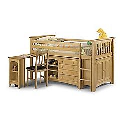Debenhams - Pine 'Barcelona' right-hand facing sleep station with 'Premier' mattress