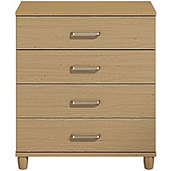 Debenhams - Oak effect 'Hazel'  4 drawer chest