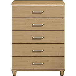 Debenhams - Oak effect 'Hazel' 5 drawer chest
