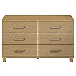 Debenhams - Oak effect 'Hazel' 6 drawer chest