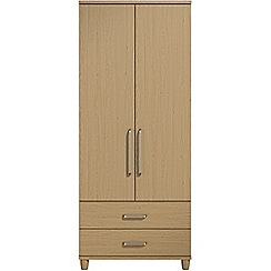 Debenhams - Oak effect 'Hazel' double wardrobe with drawers
