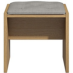 Debenhams - Oak effect 'Hazel' stool