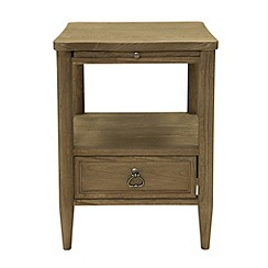Willis & Gambier - 'Amelie' narrow bedside cabinet with shelf and single drawer