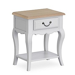 Corndell - Light grey 'Ascot' single drawer bedside cabinet