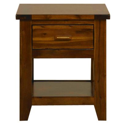 Debenhams Rich Dark Acacia Elba 1 Drawer Bedside Cabinet Review Compare Prices Buy Online