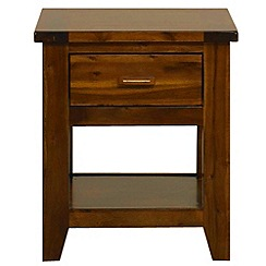 Debenhams - Acacia 'Elba' bedside cabinet with single drawer