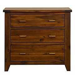 Debenhams - Acacia 'Elba' 3 drawer chest